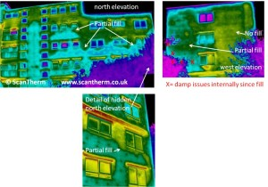 thermographic damp survey of cavity insulation