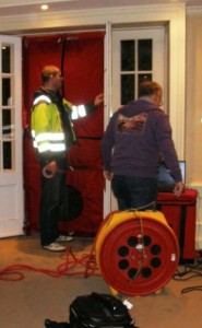 combined air tightness and thermography